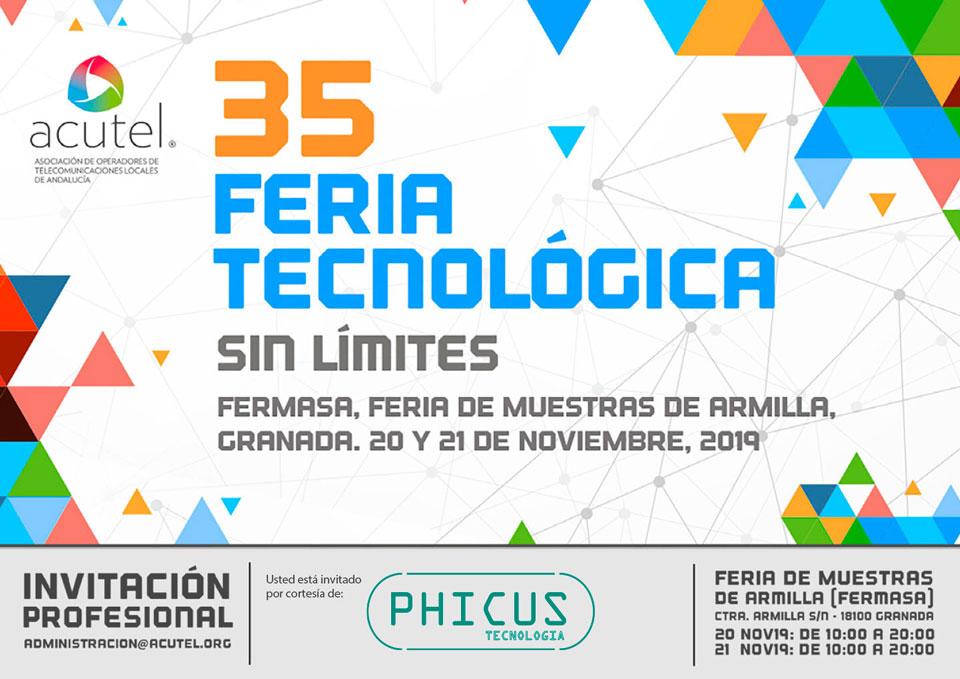 Invitación Phicus Acutel 2019